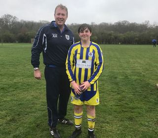 U14 Panthers man of the match against AFC Stoneham Panthers