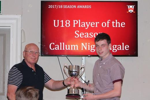 U18 Player of Season - Callum Nightingale