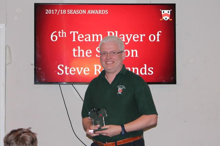 6th Team Player of Season - Steve Rowlands