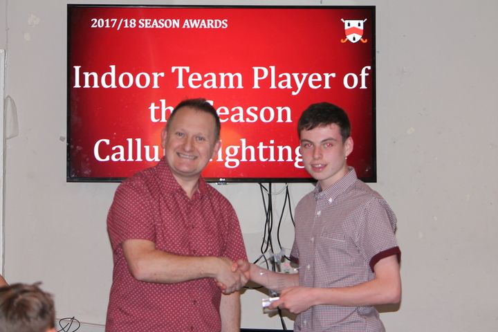 Indoor Player of Season - Callum Nightingale