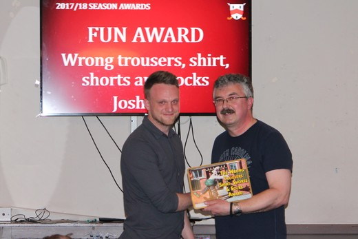 Joke award - Wrong trousers, shirt, shorts and socks award - Josh Lait