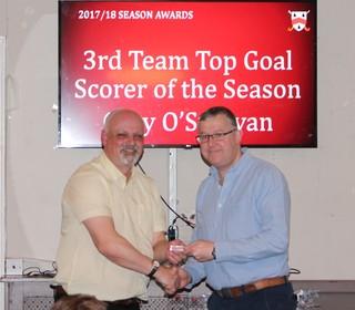 3rd Team Top Scorer - Gary O'Sullivan