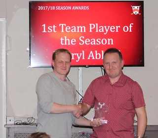 1st Team Player of Season – Darryl Ablard