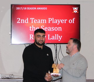 2nd Team Player of Season – Ricky Lally