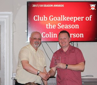 Club Best Keeper - Colin Pearson