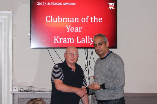 Clubman of the Year - Kram Lally