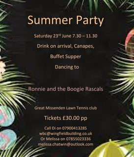 Summer Party June 2018