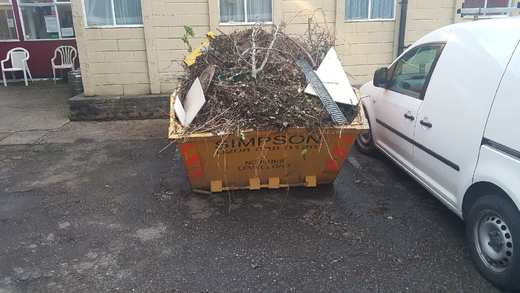 The skip filled up very quickly