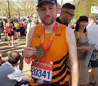 Adam at the London Marathon