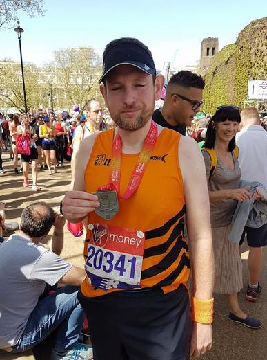 Adam at the London Marathon