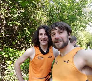 Bertrand and Martin at Blandford parkrun