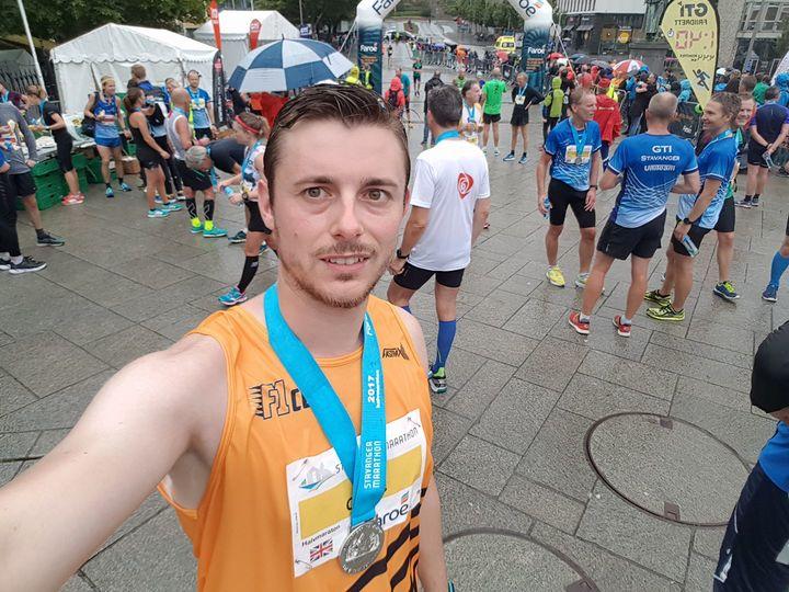 Carlos at the Stavanger Marathon