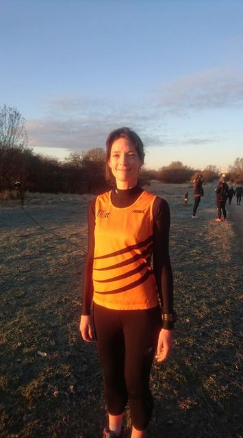 Catherine at parkrun in Copenhagen