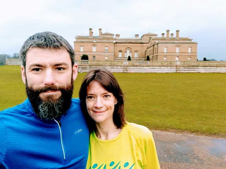 Catherine at Holkham Hall parkrun