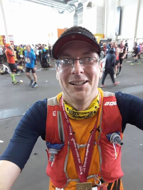 Chris at the Hamburg Marathon
