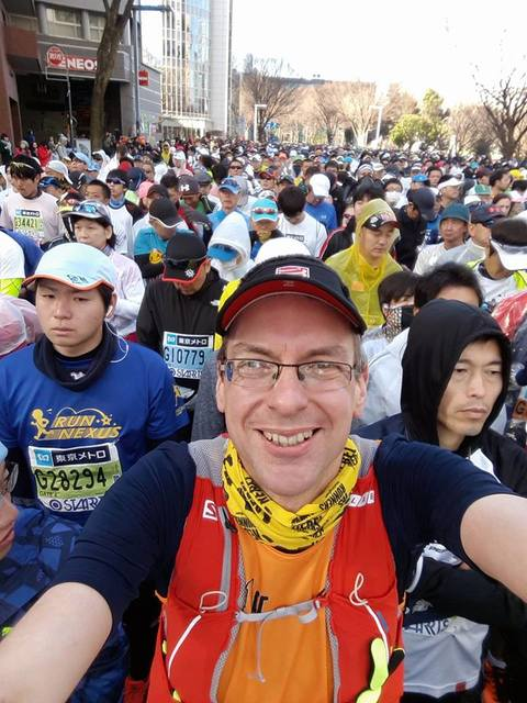 Chris at the Tokyo Marathon