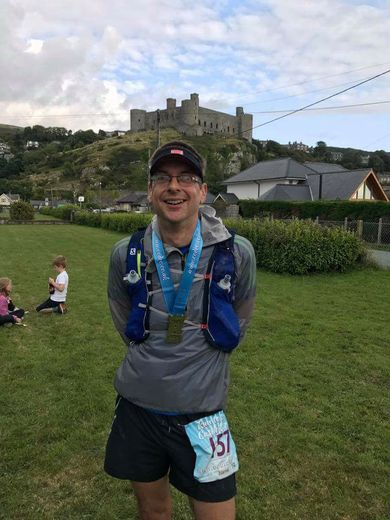 Chris at Run to the Castle in Wales