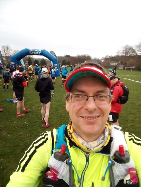 Chris at the South Downs Way Ultra