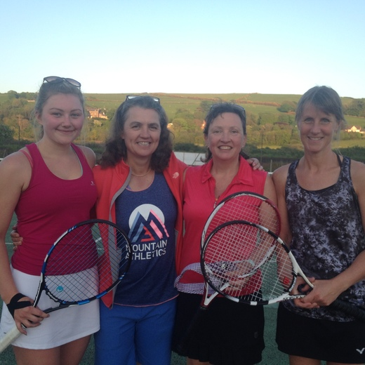 Ladies 1st team 23.5.18 Anna, Clare, Sal, Julie