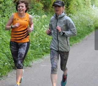 Claire and Shelagh at Summer League Race 2
