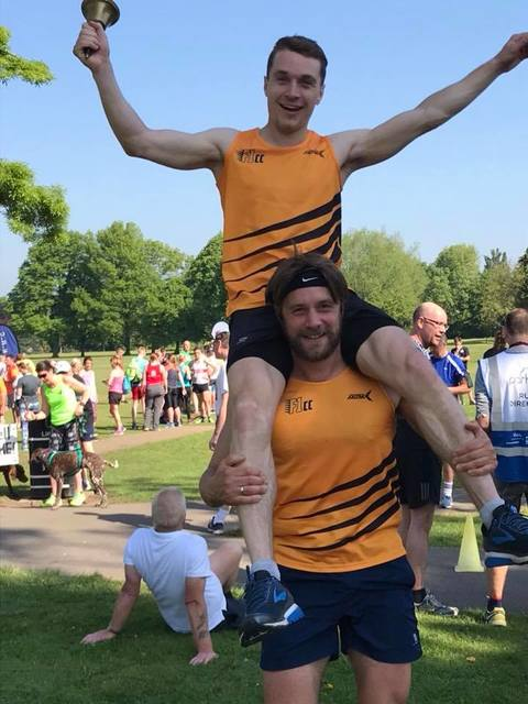 Martin and Fraser at Long Eaton parkrun