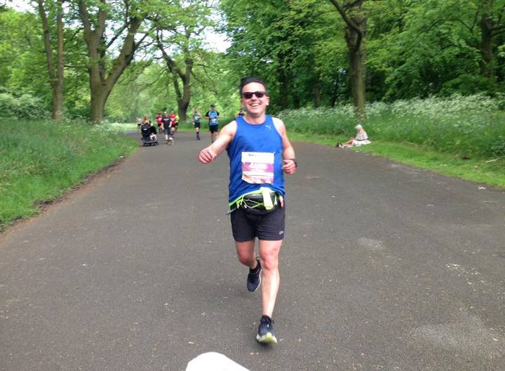 Neil at the Liverpool Rock n Roll Marathon