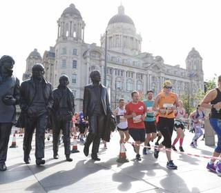 Zoe at the Liverpool Rock n Roll half marathon