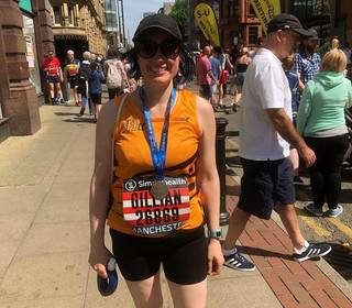 Gillian at the Manchester Half Marathon
