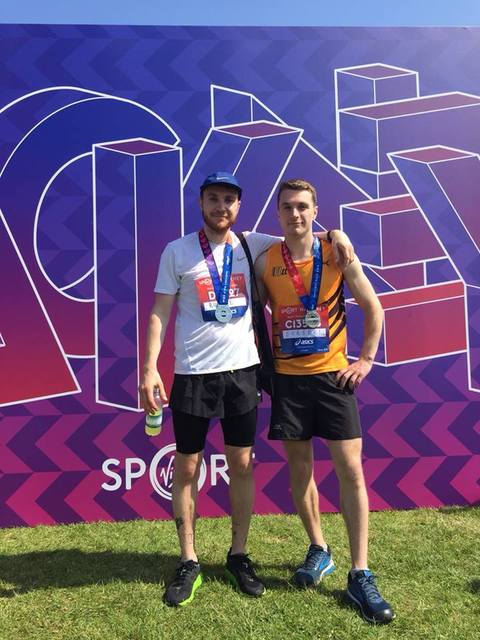 Fraser at the Hackney Half Marathon