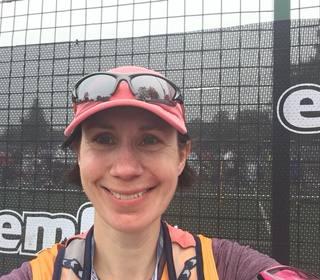 Su after the Edinburgh Half Marathon