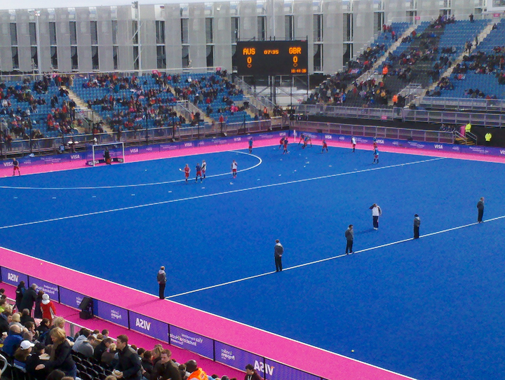 Team GB warming up