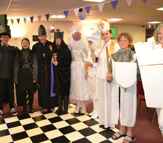 Great costumes by the chess men at Fun in the Forest