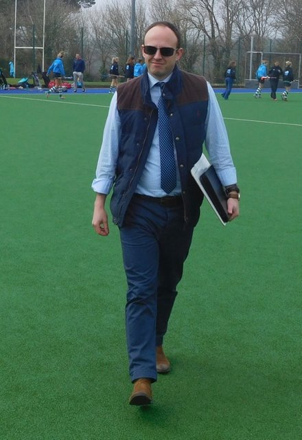 Westy playing the part of Team Manager for the day