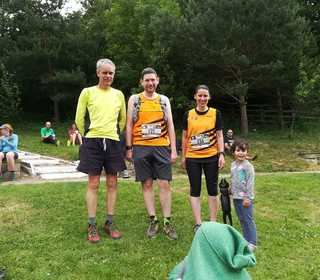 David, Adam and Vicki at the Dark Peak trail run