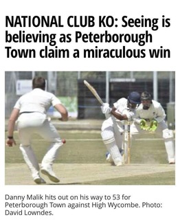 Peterborough Telegraph match report