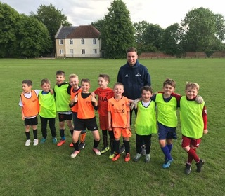 U8's with will from the brilliant overandin coaching team!