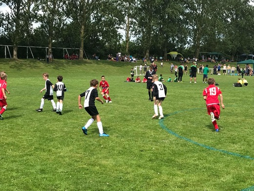 Boys in action at Buntingford tournament 2018