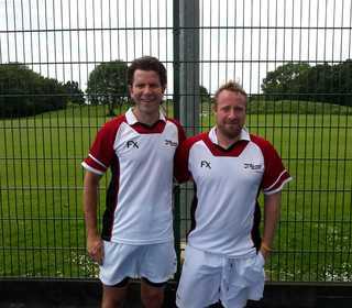 Brian Dunlea & Dan Lodge representing West O40's Master