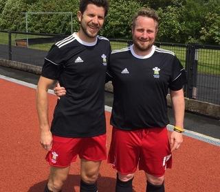 Brian Dunlea & Dan Lodge representing Wales O40's