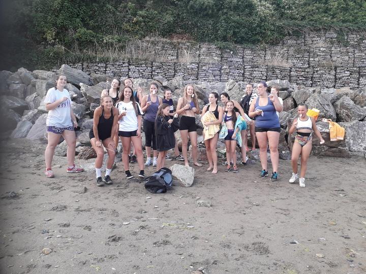 marshmallows at beach training July 2018