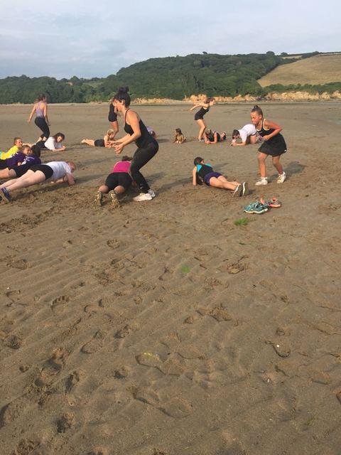 beach training July 2018