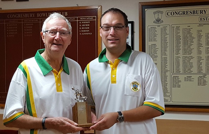 Pairs runners-up Ian Beveridge and Clive Shipway