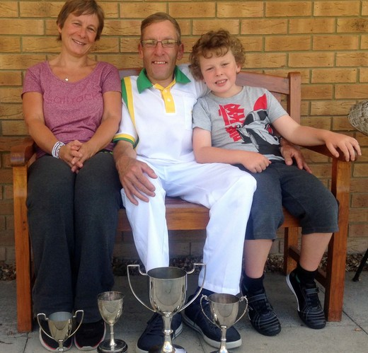 Ant - Novice, 2-wood, Handicap winner and championship runner-up - with family