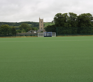 New pitch with superb back drop