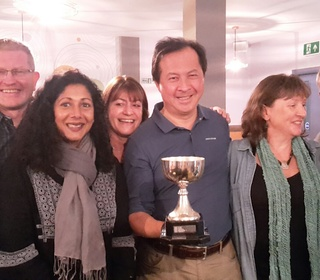 Mixed 2nd team won mixed Div 2 trophy 2018