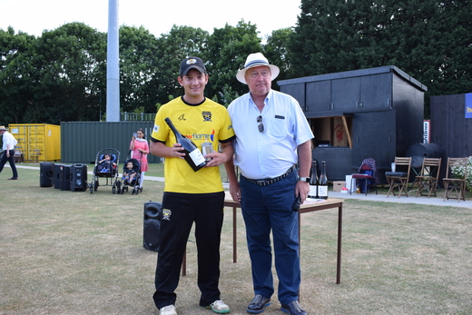 David Clarke receives the 'Man of the Match' award