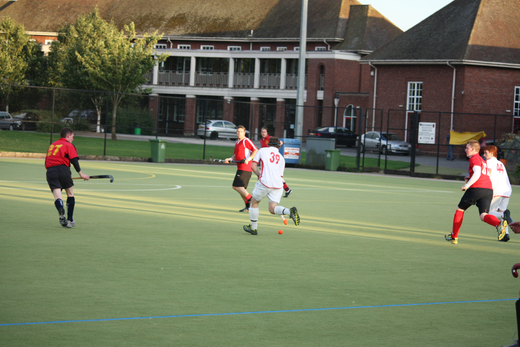 Dave Goodfield on the attack.