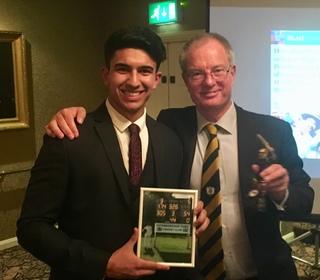 Sun 2nd XI Player of the Season - Sohail Hayat, l, with chairman Brian Howard