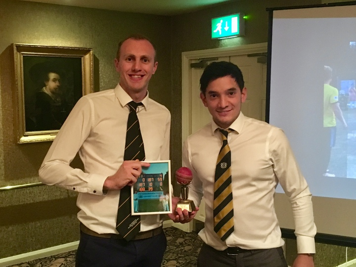 Special award to Kieran Jones, for his 4 in 4 balls during the amazing National 40-over cup win