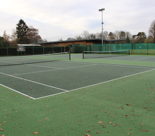 Courts 1 & 2 and the pavilion